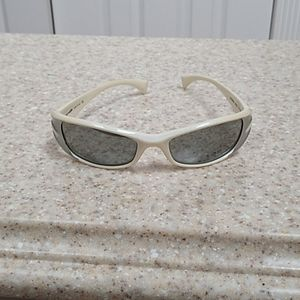 Arnette Wrap Around White & Gray Sun Glasses
